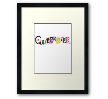 Quirkster Framed Print