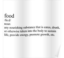definition of food Poster