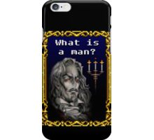 What is a man? iPhone Case/Skin