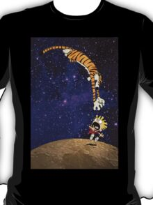 Calvin and Hobbes On The Moon T-Shirt