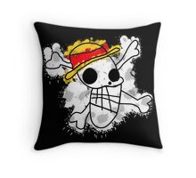 Luffy on Laboon Throw Pillow