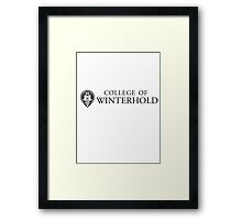 College of Winterhold Framed Print