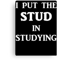 I Put The STUD in Studying Canvas Print
