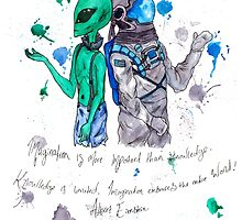 Alien and Astronaut by Beth Stephens