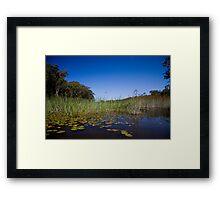 Blu Skys Framed Print
