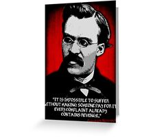 Friedrich Nietzsche Philosophy Quotation Greeting Card
