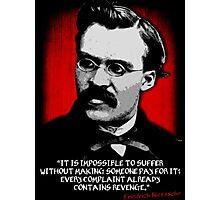 Friedrich Nietzsche Philosophy Quotation Photographic Print