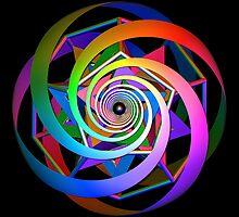'SpiralDocecaStar 1' by Scott Bricker