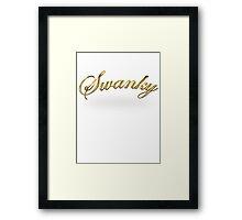 Swanky Framed Print