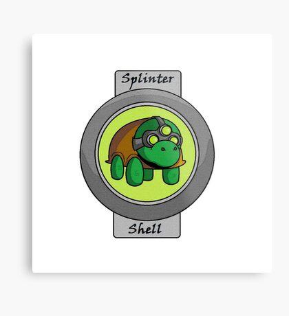 Splinter Shell Metal Print