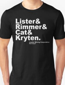 Red Dwarf Crew Jupiter Mining Corporation T-Shirt