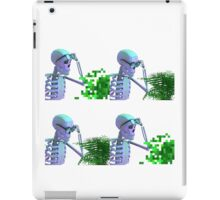 cool skeleton looking at plant iPad Case/Skin