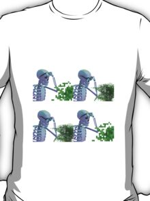 cool skeleton looking at plant T-Shirt