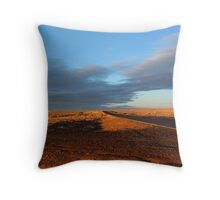 Lonely Roadside Sunset Throw Pillow