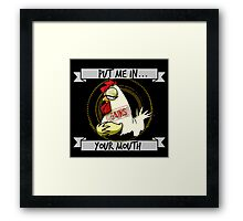 The Gains Chicken Framed Print