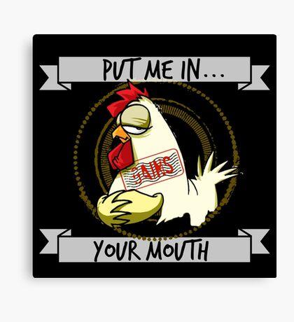 The Gains Chicken Canvas Print