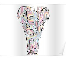 Elephant - flower Poster