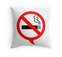 Say no to cigarettes Throw Pillow