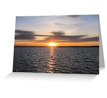 Sunset Over Lake - Orman Dam Greeting Card