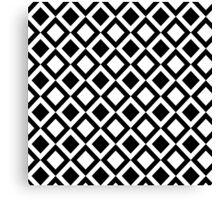 Elegant Black and White Geometric Squares Canvas Print