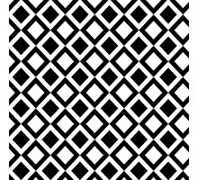 Elegant Black and White Geometric Squares Photographic Print