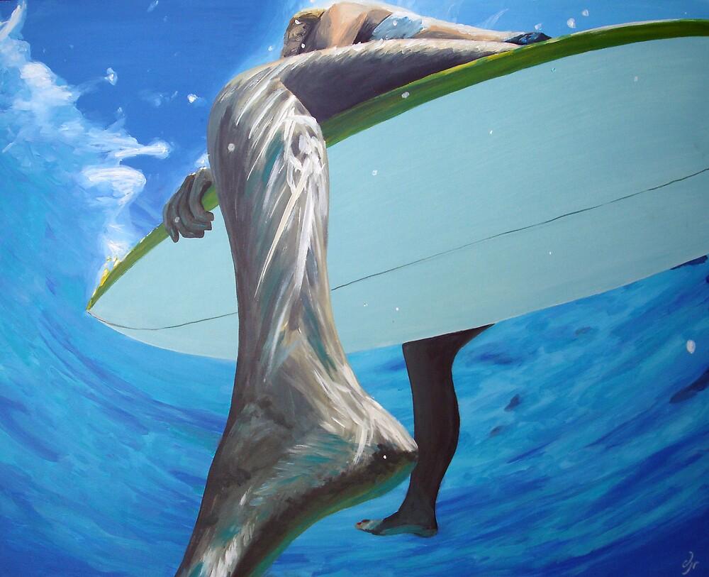 surfer girls foot by dave reynolds