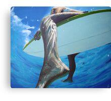 surfer girls foot Canvas Print