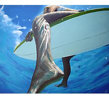 surfer girls foot Photographic Print