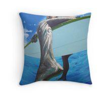 surfer girls foot Throw Pillow