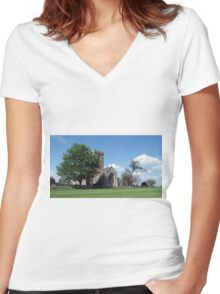 The Parish Church of St Andrew Women's Fitted V-Neck T-Shirt