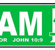 JOHN 10:9 - I AM THE DOOR  by Calgacus