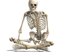 3D SKELETON SITTING by spookdy