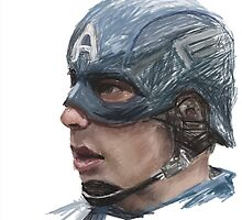 Captain America Sketch by SoderblomArt