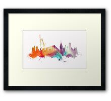 NYC New York City skyline Framed Print