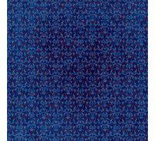 Blue Glow Gothic Grunge Damask Photographic Print