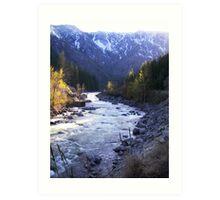 Wenatchee river dance Art Print