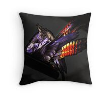 Red Tail Black Throw Pillow