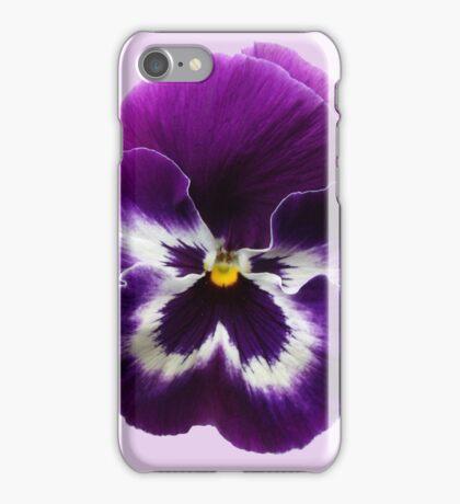 Purple Pansy iPhone Case/Skin
