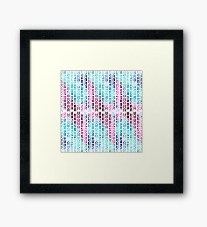 Aqua and Purple Watercolor Arrows Framed Print