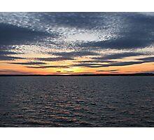 Sunset Over Lake - Orman Dam Photographic Print