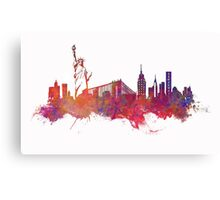 New York city Skyline red Canvas Print