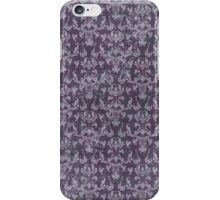 Vintage Purple Grunge Damask iPhone Case/Skin