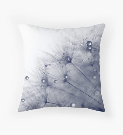 Drops on Dandelion #2 Throw Pillow