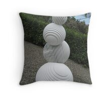 Balls sculpture, Matakana, New Zealand Throw Pillow