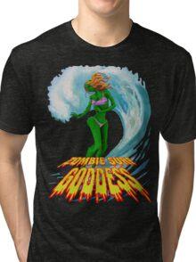 Zombie Surf Goddess #2 Tri-blend T-Shirt