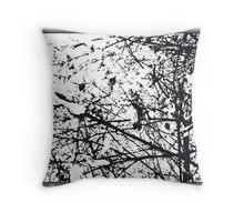 The Harshness of Winter Throw Pillow