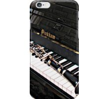 Black Beauty - Clarinet on Piano Keyboard iPhone Case/Skin
