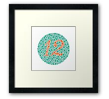 12 - Ishihara Plate Framed Print