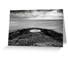 Hole in the dike near Wilhelminadorp, the Netherlands Greeting Card