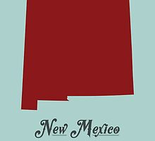 New Mexico - States of the Union by Michael Bowman